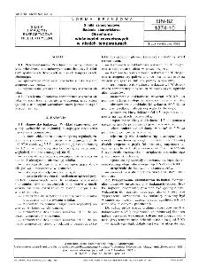 Silniki samochodowe - Badania stanowiskowe - Określanie właściwości rozruchowych w niskich temperaturach BN-82/1374-10
