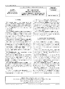 Silniki samochodowe - Badania stanowiskowe - Określanie właściwości antydetonacyjnych silników i paliw w warunkach ustalonych BN-83/1374-09