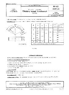 Motocykle i motorowery - Okładziny szczęk hamulcowych - Wymiary BN-83/3641-05