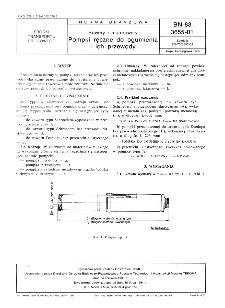 Rowery i motorowery - Pompki ręczne do ogumienia i ich przewody BN-83/3655-01