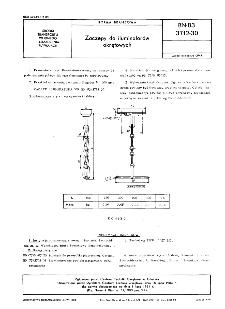 Zaczepy do iluminatorów okrętowych BN-83/3712-30