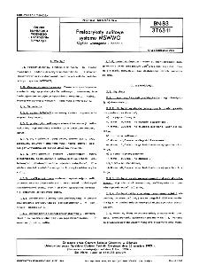 Preparaty sufitowe systemu MSWWO - Ogólne wymagania i badania BN-83/3763-11