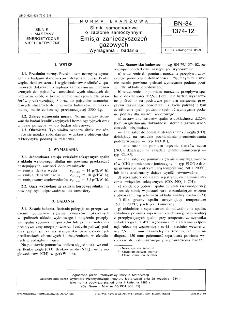 Silniki samochodowe o zapłonie samoczynnym - Emisja zanieczyszczeń gazowych - Wymagania i badania BN-84/1374-12