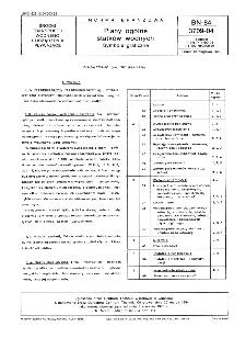 Plany ogólne statków wodnych - Symbole graficzne BN-84/3709-04