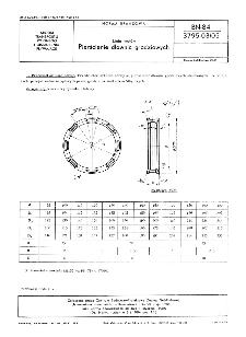 Linia wałów - Pierścienie dławnic grodziowych BN-84/3795-03/05