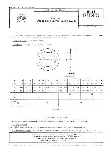 Linia wałów - Uszczelki dławnic grodziowych BN-84/3795-03/06
