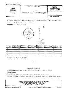 Linia wałów - Podkładki dławnic grodziowych BN-84/3795-03/07