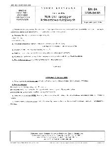 Linia wałów - Nakrętki sprzęgieł kołnierzowo-tulejowych BN-84/3795-04/05