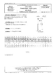Linia wałów - Pierścienie centrujące sprzęgieł kołnierzowo-tulejowych BN-84/3795-04/07