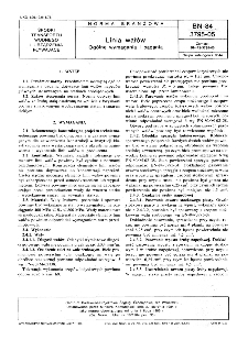 Linia wałów - Ogólne wymagania i badania BN-84/3795-05