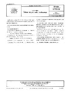 Linia wałów - Tuleje łożysk wału śrubowego BN-84/3795-06