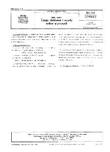 Linia wałów - Czopy stożkowe i wpusty wałów śrubowych BN-84/3795-07