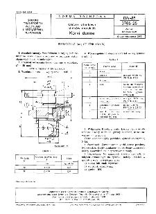 Łodzie ratunkowe statków morskich - Korki denne BN-85/3765-25
