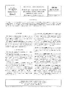 Odbiór po naprawie zespołów pojazdów samochodowych dostaczanych luzem - Wymagania i badania ogólne BN-86/3615-17/01