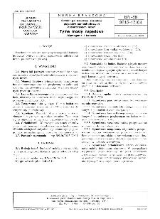 Odbiór po naprawie zespołów pojazdów samochodowych dostarczanych luzem - Tylne mosty napędowe - Wymagania i badania BN-86/3615-17/04