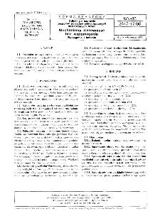 Odbiór po naprawie zespołów pojazdów samochodowych dostarczanych luzem - Mechanizmy kierownicze bez wspomagania - Wymagania i badania BN-86/3615-17/06