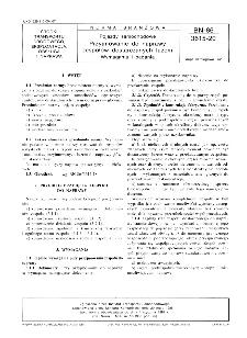 Pojazdy samochodowe - Przyjmowanie do naprawy zespołów dostarczanych luzem - Wymagania i badania BN-86/3615-20