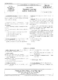 Linia wałów - Dławnice pochew wałów śrubowych BN-86/3795-09/01