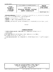 Linia wałów - Korpusy dławnic pochew wałów śrubowych BN-86/3795-09/02