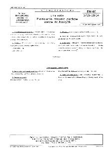 Linia wałów - Pierścienie dławic pochew wałów śrubowych BN-86/3795-09/04