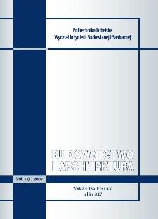 Budownictwo i Architektura Vol. 1(1)2007