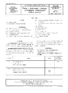 Plany i schematy instalacji rurociągów okrętowych - Symbole graficzne BN-88/3709-01