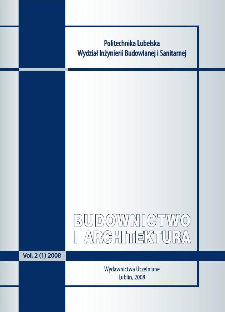Budownictwo i Architektura Vol. 2(1)2008