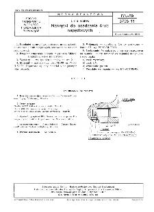 Linia wałów - Nakrętki do osadzania śrub napędowych BN-89/3795-11