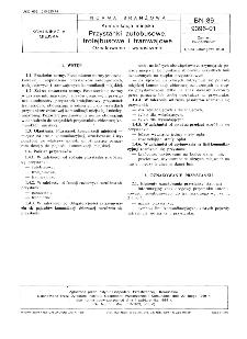 Komunikacja miejska - Przystanki autobusowe, trolejbusowe i tramwajowe - Oznakowanie i wyposażenie BN-89/9396-01