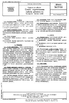 Naprawa samochodów - Części regenerowane metodą galwaniczną - Wymagania i badania powłok BN-69/3627-06