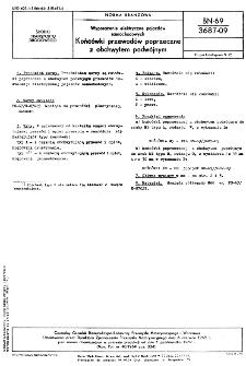 Wyposażenie elektryczne pojazdów samochodowych - Końcówki przewodów poprzeczne z obchwytem podwójnym BN-69/3687-09