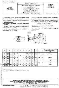Wyposażenie elektryczne pojazdów samochodowych - Końcówki przewodów oczkowe wzdłużne z obchwytem pojedynczym BN-69/3687-10