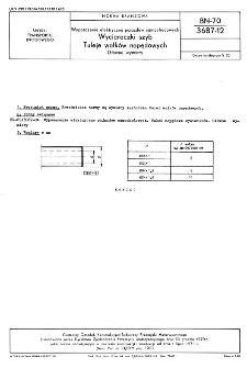 Wyposażenie elektryczne pojazdów samochodowych - Wycieraczki szyb - Tuleje wałków napędowych - Główne wymiary BN-70/3687-12