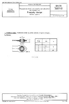 Wyposażenie elektryczne pojazdów samochodowych - Wycieraczki szyb - Przeguby dźwigni - Główne wymiary BN-70/3687-13