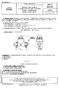Powietrzne układy hamulcowe w pojazdach samochodowych i przyczepach - Zawór przepływowy - Rodzaje i główne wymiary BN-71/3611-20