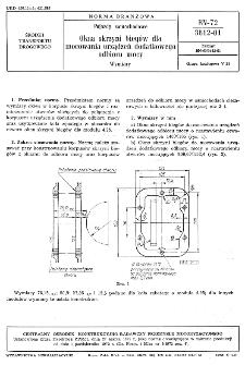 Pojazdy samochodowe - Okna skrzyni biegów dla mocowania urządzeń dodatkowego odbioru mocy - Wymiary BN-72/3612-01