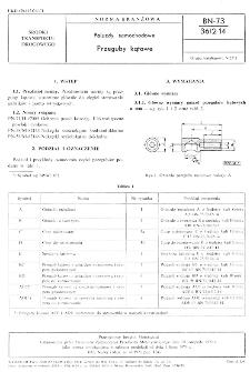 Pojazdy samochodowe - Przeguby kątowe BN-73/3612-14