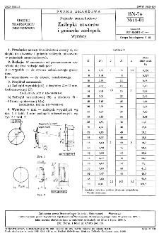Pojazdy samochodowe - Zaślepki otworów i gniazda zaślepek - Wymiary BN-74/3611-01
