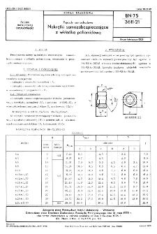 Pojazdy samochodowe - Nakrętki samozabezpieczające z wkładką poliamidową BN-75/3611-21