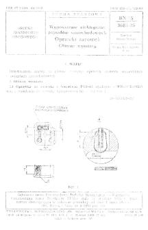 Wyposażenie elektryczne pojazdów samochodowych - Oprawki żarówek - Główne wymiary BN-75/3685-05