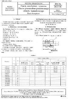 Pojazdy samochodowe i przyczepy - Złącza przewodów powietrznego układu hamulcowego - Złącza kompletne BN-76/3611-06