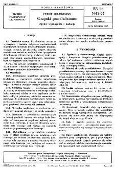 Pojazdy samochodowe - Skrzynki przekładniowe - Ogólne wymagania i badania BN-76/3612-05