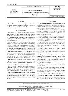 Samochody osobowe - Widoczność z miejsca kierowcy - Wymagania BN-76/3626-07