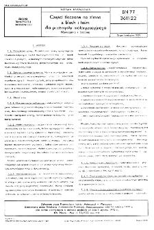 Części tłoczone na zimno z blach i taśm dla przemysłu motoryzacyjnego - Wymagania i badania BN-77/3611-22