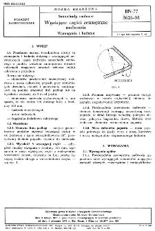 Samochody osobowe - Wystające części zewnętrzne nadwozia - Wymagania i badania BN-77/3626-08