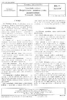 Samochody osobowe - Bezpieczność pomieszczenia pasażerskiego - Wymagania i badania BN-77/3626-09