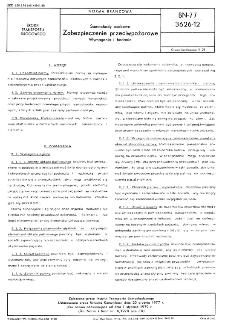 Samochody osobowe - Zabezpieczenie przeciwpożarowe - Wymagania i badania BN-77/3626-12
