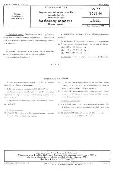 Wyposażenie elektryczne pojazdów samochodowych - Wycieraczki szyb - Mechanizmy napędowe - Główne wymiary BN-77/3687-14