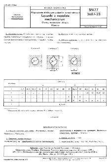 Wyposażenia elektryczne pojazdów samochodowych - Łączniki o napędzie mechanicznym - Otwory montażowe okrągłe - Wymiary BN-77/3687-23