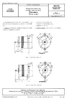 Wyposażenie elektryczne pojazdów samochodowych - Alternatory - Główne wymiary BN-78/3681-07